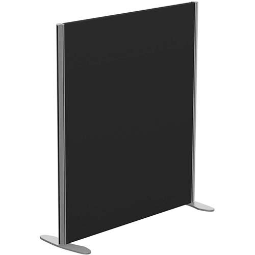 Sprint Eco Freestanding Screen Straight Top W1000xH1100mm Black - With Stabilising Feet