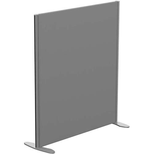 Sprint Eco Freestanding Screen Straight Top W1000xH1100mm Grey - With Stabilising Feet