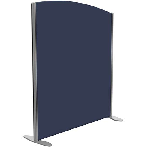 Sprint Eco Freestanding Screen Curved Top W1000xH1200-1000mm Dark Blue - With Stabilising Feet