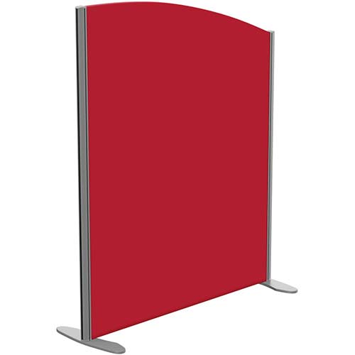 Sprint Eco Freestanding Screen Curved Top W1000xH1200-1000mm Red - With Stabilising Feet