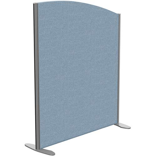 Sprint Eco Freestanding Screen Curved Top W1000xH1200-1000mm Light Blue - With Stabilising Feet