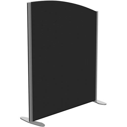 Sprint Eco Freestanding Screen Curved Top W1000xH1200-1000mm Black - With Stabilising Feet