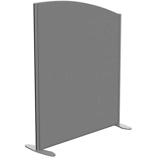 Sprint Eco Freestanding Screen Curved Top W1000xH1200-1000mm Grey - With Stabilising Feet