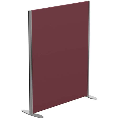 Sprint Eco Freestanding Screen Straight Top W1000xH1200mm Wine - With Stabilising Feet