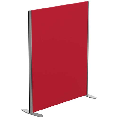 Sprint Eco Freestanding Screen Straight Top W1000xH1200mm Red - With Stabilising Feet
