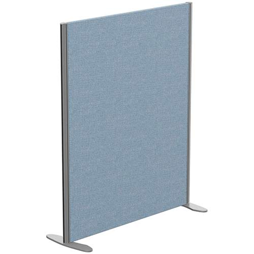 Sprint Eco Freestanding Screen Straight Top W1000xH1200mm Light Blue - With Stabilising Feet