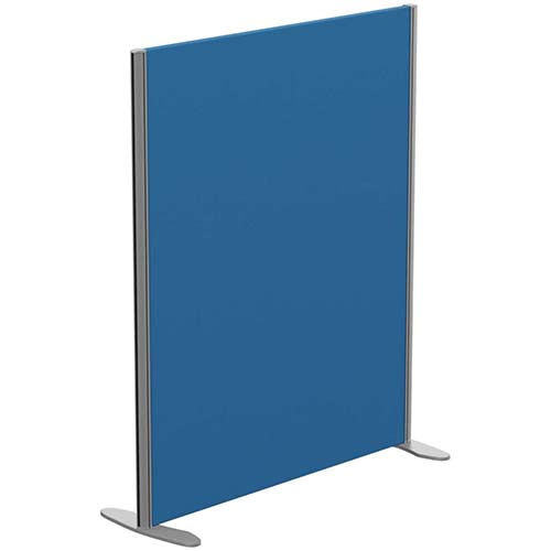 Sprint Eco Freestanding Privacy Acoustic Screen Straight Top W1000xH1200mm Blue - With Stabilising Feet