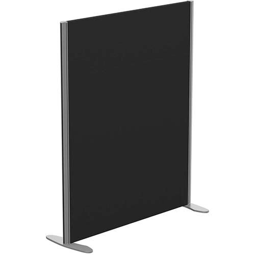 Sprint Eco Freestanding Screen Straight Top W1000xH1200mm Black - With Stabilising Feet