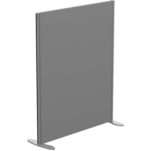 Sprint Eco Freestanding Screen Straight Top W1000xH1200mm Grey - With Stabilising Feet