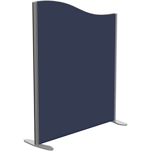 Sprint Eco Freestanding Screen Wave Top W1000xH1200-1000mm Dark Blue - With Stabilising Feet