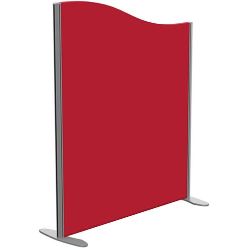 Sprint Eco Freestanding Screen Wave Top W1000xH1200-1000mm Red - With Stabilising Feet