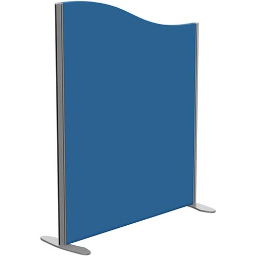 Sprint Eco Freestanding Screen Wave Top W1000xH1200-1000mm Blue - With Stabilising Feet