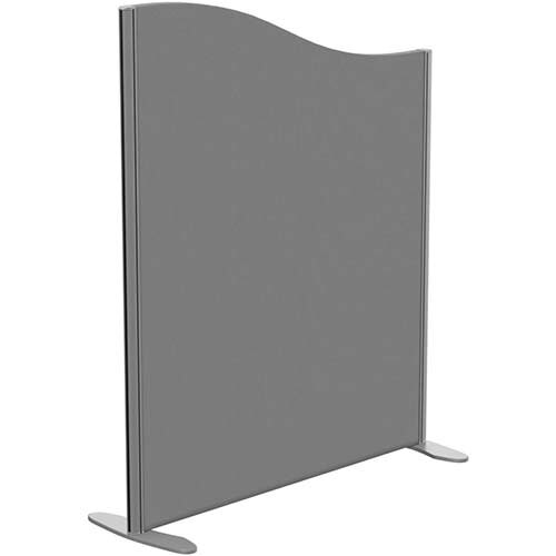 Sprint Eco Freestanding Screen Wave Top W1000xH1200-1000mm Grey - With Stabilising Feet