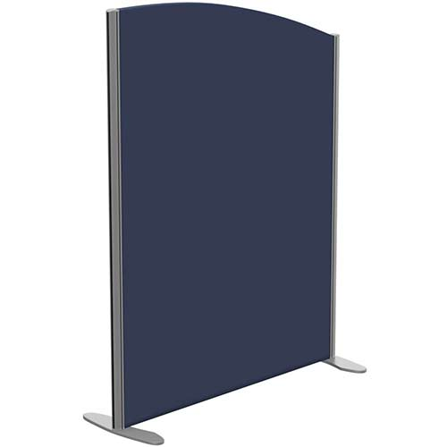 Sprint Eco Freestanding Screen Curved Top W1000xH1300-1100mm Dark Blue - With Stabilising Feet