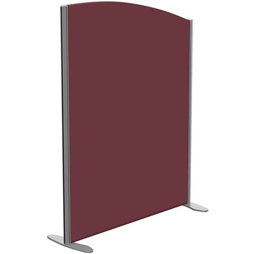 Sprint Eco Freestanding Screen Curved Top W1000xH1300-1100mm Wine - With Stabilising Feet