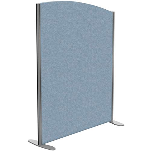 Sprint Eco Freestanding Screen Curved Top W1000xH1300-1100mm Light Blue - With Stabilising Feet