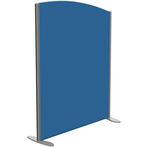 Sprint Eco Freestanding Privacy Acoustic Screen Curved Top W1000xH1300-1100mm Blue - With Stabilising Feet