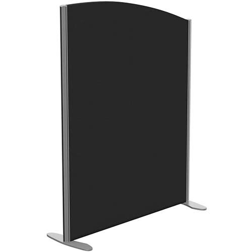 Sprint Eco Freestanding Screen Curved Top W1000xH1300-1100mm Black - With Stabilising Feet