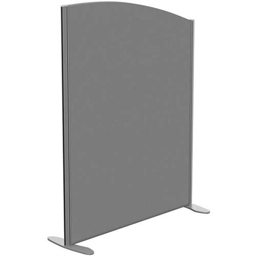 Sprint Eco Freestanding Screen Curved Top W1000xH1300-1100mm Grey - With Stabilising Feet
