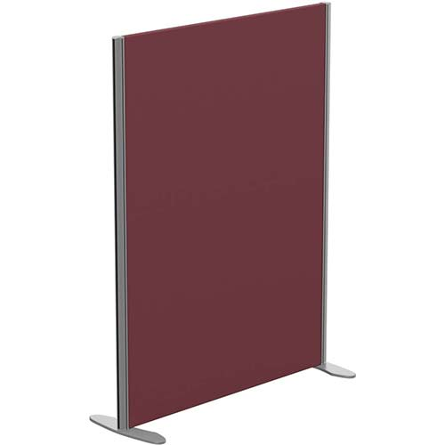 Sprint Eco Freestanding Screen Straight Top W1000xH1300mm Wine - With Stabilising Feet