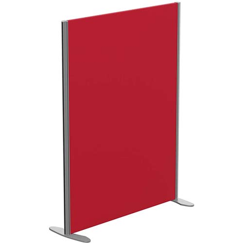 Sprint Eco Freestanding Screen Straight Top W1000xH1300mm Red - With Stabilising Feet