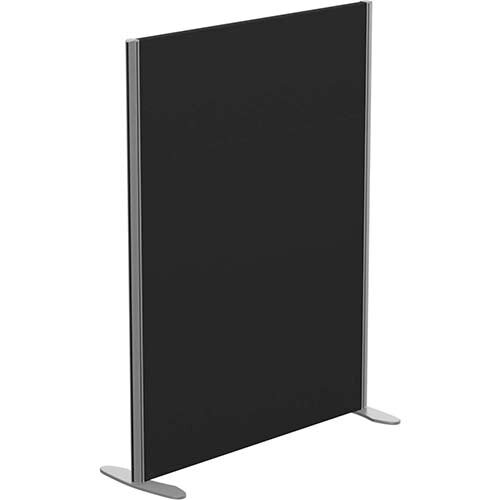 Sprint Eco Freestanding Screen Straight Top W1000xH1300mm Black - With Stabilising Feet
