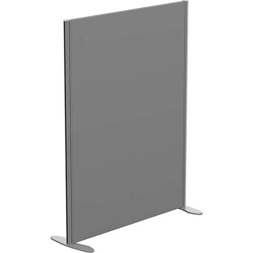Sprint Eco Freestanding Screen Straight Top W1000xH1300mm Grey - With Stabilising Feet