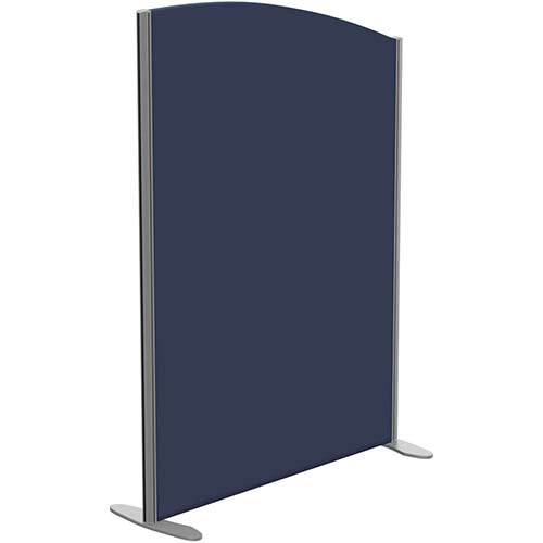 Sprint Eco Freestanding Screen Curved Top W1000xH1400-1200mm Dark Blue - With Stabilising Feet