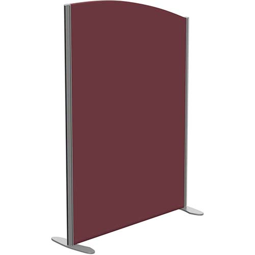Sprint Eco Freestanding Screen Curved Top W1000xH1400-1200mm Wine - With Stabilising Feet