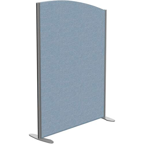 Sprint Eco Freestanding Screen Curved Top W1000xH1400-1200mm Light Blue - With Stabilising Feet
