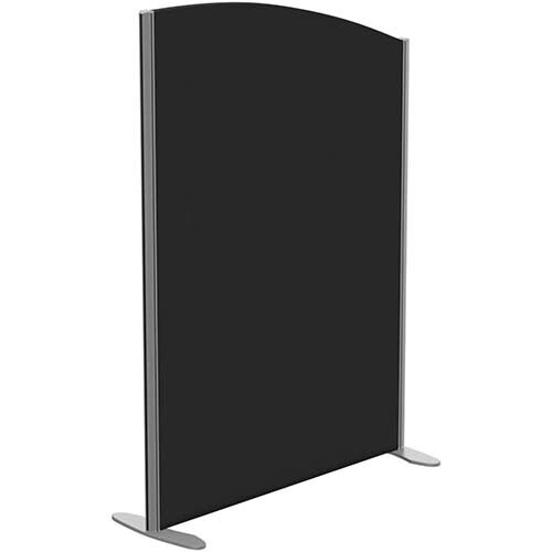 Sprint Eco Freestanding Screen Curved Top W1000xH1400-1200mm Black - With Stabilising Feet