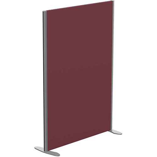 Sprint Eco Freestanding Screen Straight Top W1000xH1400mm Wine - With Stabilising Feet