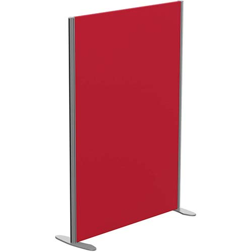 Sprint Eco Freestanding Screen Straight Top W1000xH1400mm Red - With Stabilising Feet