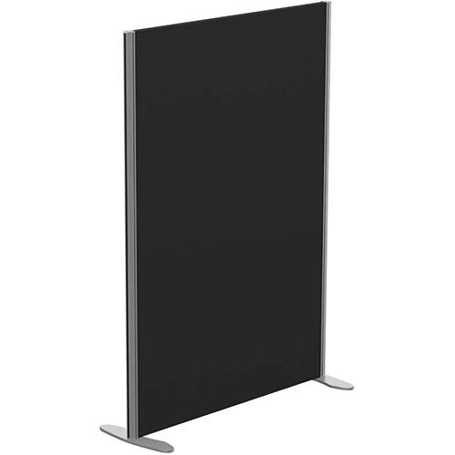 Sprint Eco Freestanding Screen Straight Top W1000xH1400mm Black - With Stabilising Feet