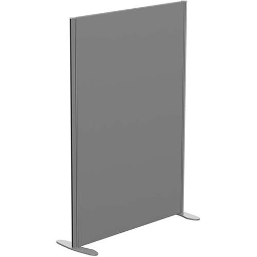 Sprint Eco Freestanding Screen Straight Top W1000xH1400mm Grey - With Stabilising Feet