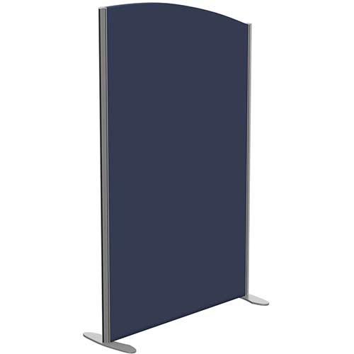 Sprint Eco Freestanding Screen Curved Top W1000xH1600-1400mm Dark Blue - With Stabilising Feet