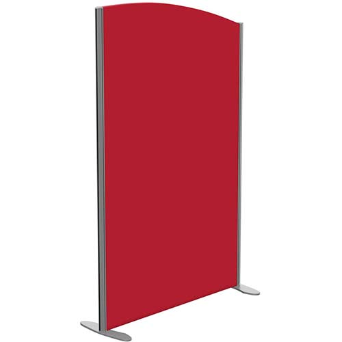 Sprint Eco Freestanding Screen Curved Top W1000xH1600-1400mm Red - With Stabilising Feet