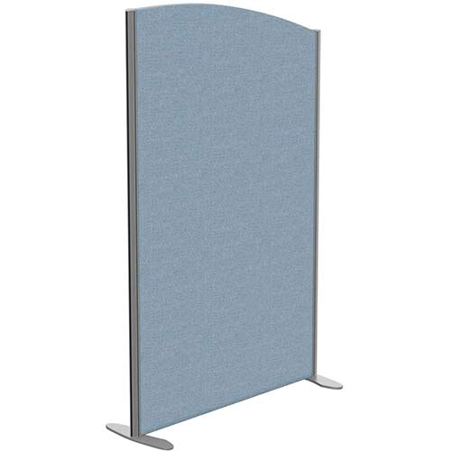 Sprint Eco Freestanding Screen Curved Top W1000xH1600-1400mm Light Blue - With Stabilising Feet