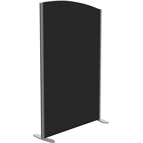 Sprint Eco Freestanding Screen Curved Top W1000xH1600-1400mm Black - With Stabilising Feet