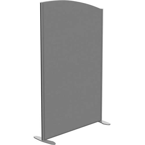 Sprint Eco Freestanding Screen Curved Top W1000xH1600-1400mm Grey - With Stabilising Feet