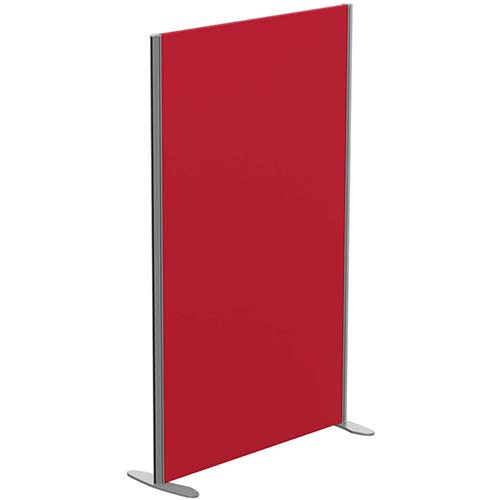 Sprint Eco Freestanding Screen Straight Top W1000xH1600mm Red - With Stabilising Feet