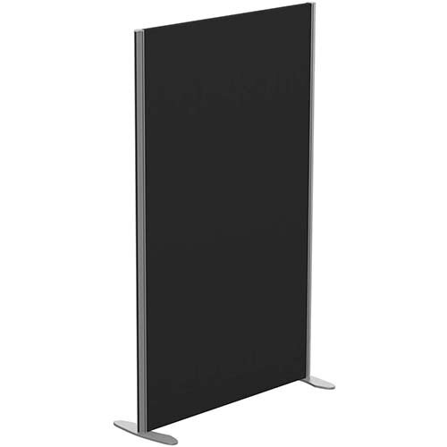 Sprint Eco Freestanding Screen Straight Top W1000xH1600mm Black - With Stabilising Feet