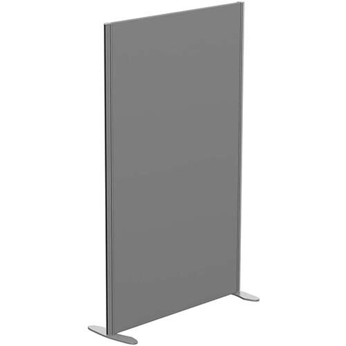 Sprint Eco Freestanding Screen Straight Top W1000xH1600mm Grey - With Stabilising Feet