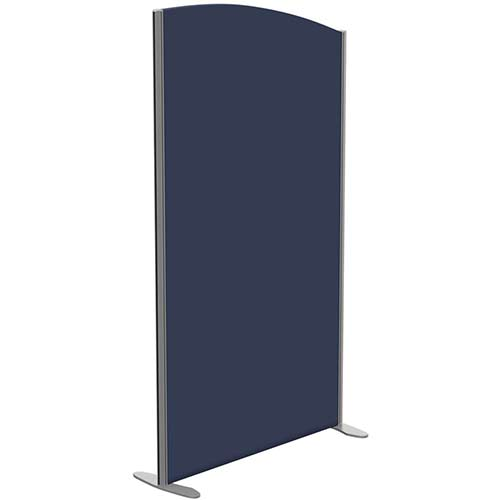 Sprint Eco Freestanding Screen Curved Top W1000xH1800-1600mm Dark Blue - With Stabilising Feet