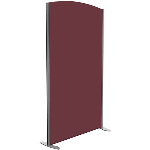 Sprint Eco Freestanding Screen Curved Top W1000xH1800-1600mm Wine - With Stabilising Feet