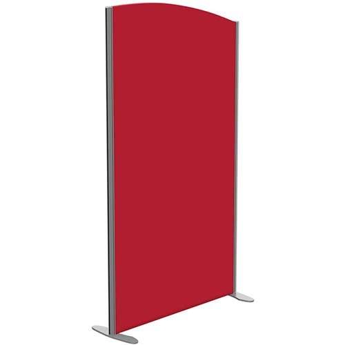 Sprint Eco Freestanding Screen Curved Top W1000xH1800-1600mm Red - With Stabilising Feet