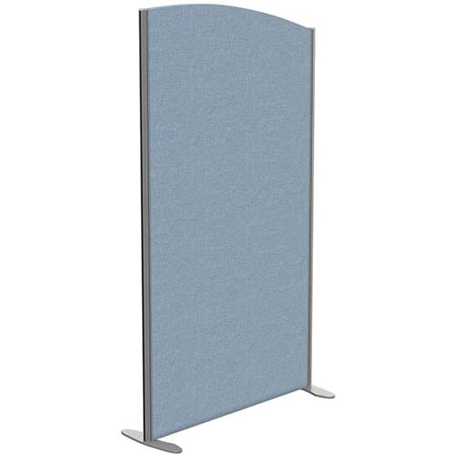 Sprint Eco Freestanding Screen Curved Top W1000xH1800-1600mm Light Blue - With Stabilising Feet