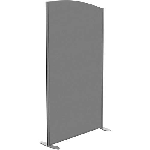 Sprint Eco Freestanding Screen Curved Top W1000xH1800-1600mm Grey - With Stabilising Feet