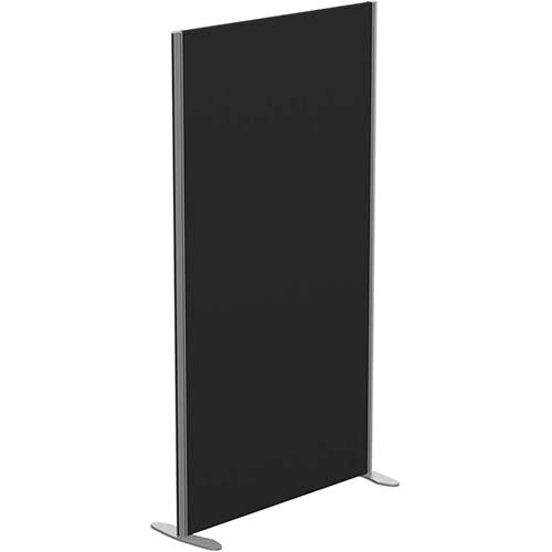 Sprint Eco Freestanding Screen Straight Top W1000xH1800mm Black - With Stabilising Feet