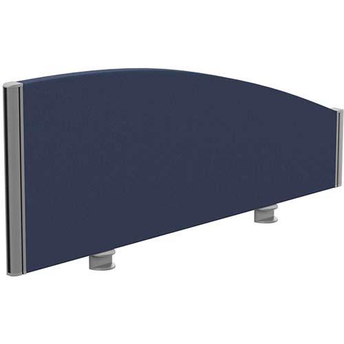 Sprint Eco Office Desk Screen Curved Top W1000xH380-180mm Dark Blue